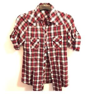 Wet Seal Plaid Shirt